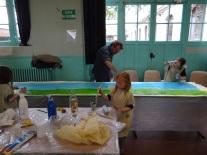 Atelier peinture : Thaïs avec Jaime