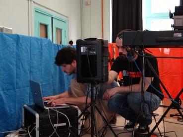 Guillaume et Denis en plein préparatifs