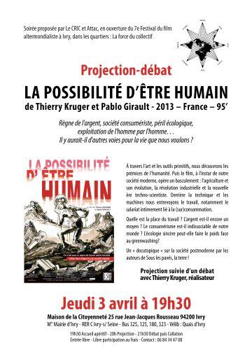 Affiche Possibilité d'être humain