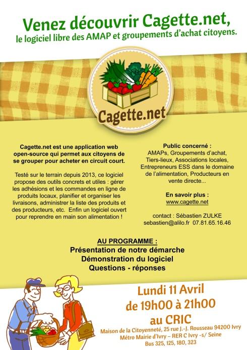 Cagette net A4 CRIC
