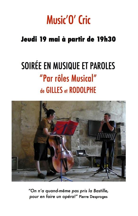 Music'O'Cric - Gilles et Rodolphe - 19 mai 2016 -